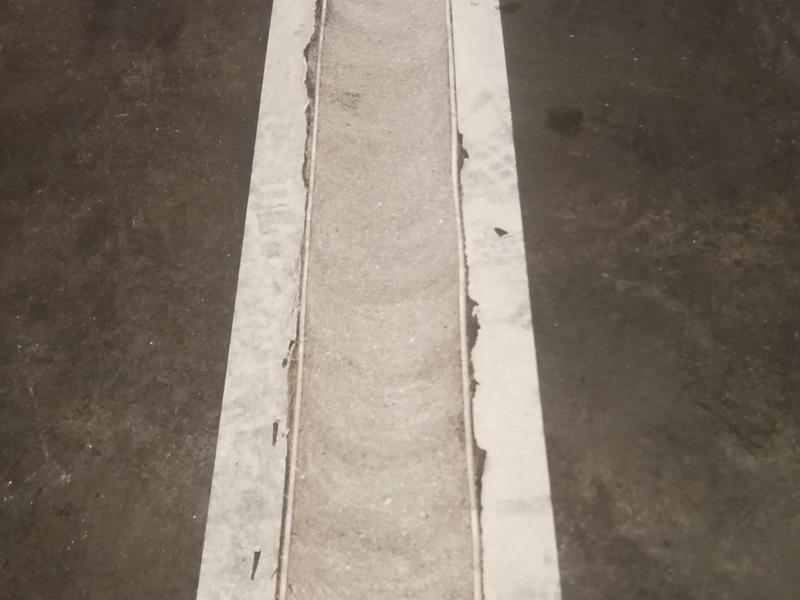 งานตีเส้นโรงงาน ทำซุ้มกันฝุ่น