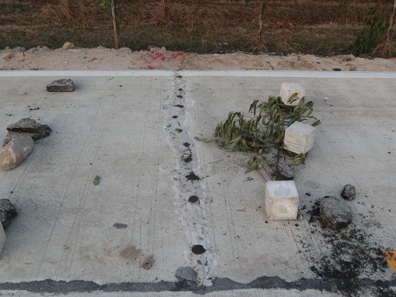 งานซ่อมพื้นถนนคอนกรีตแตกร้าวด้วยวิธีการ Epoxy Injection