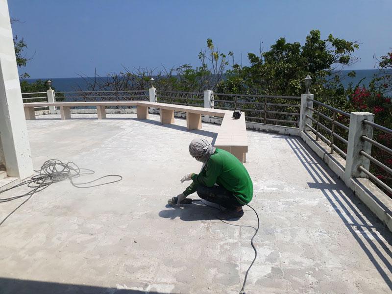 งานทำพื้น PU Coating ดาดฟ้าบ้านพักตากอากาศ