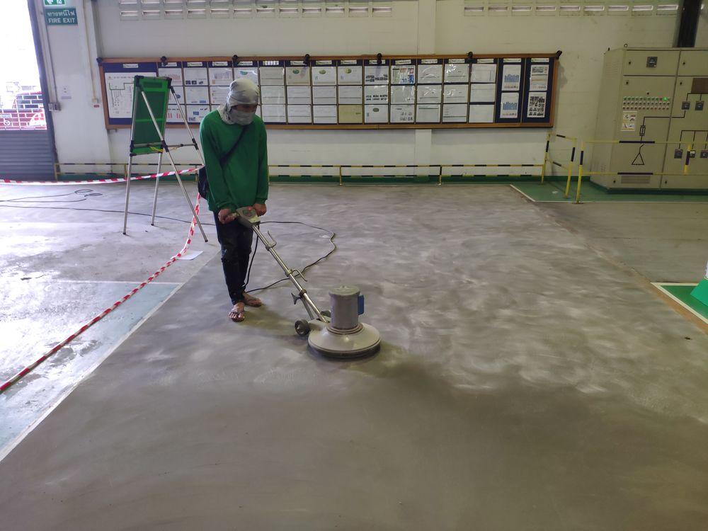 งานซ่อมแซมพื้นโรงงานแตกร่อนด้วย Mortar