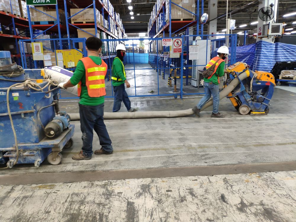 งานเคลือบพื้นอีพ็อกซี่กันลื่น ( Epoxy Non-Slip ) โรงงานจังหวัดระยอง