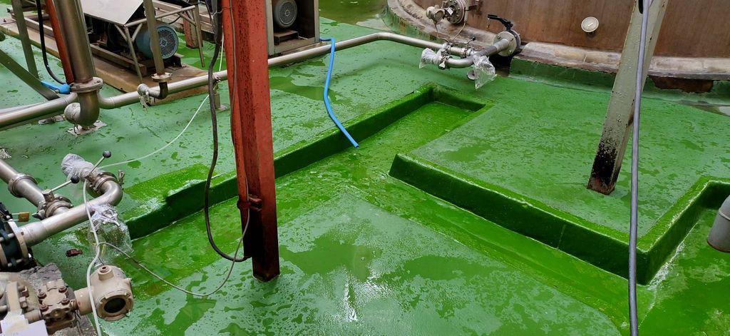 งาน FRP รางระบายน้ำกับPU concerete โรงงาน