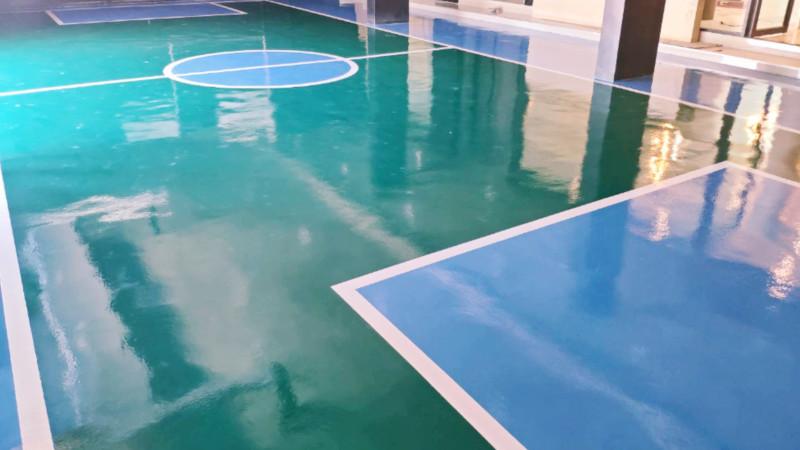 งานสนามกีฬาด้วยระบบ PU coating